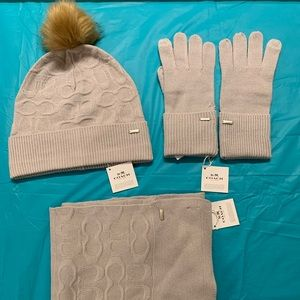 Coach Hat, Scarf and Gloves Set